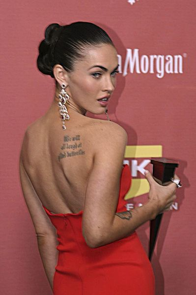 399px-Megan_Fox_back