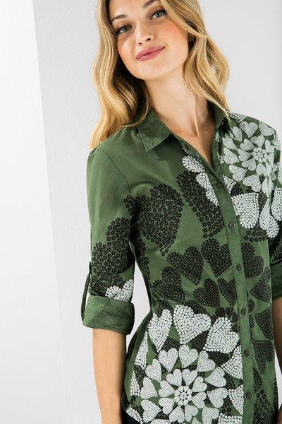 aa03fb69, camisa verde, camisa lunares, comprar marcas, compras desigual online, moda mujer, whimed