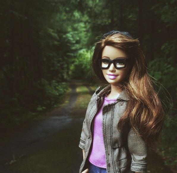 barbie hipster gafas pasta
