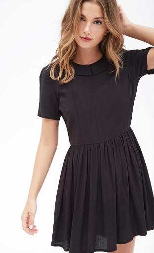 vestido cuello bobo, capa-marrón,capa-arroz, capa punto de arroz, forever 21, love 21, moda otoño, moda otono mujer, comprar moda otono