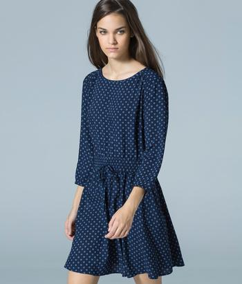 d0fd87d8, vestido otoño, vestido manga larga, vestido azul marino, vestido otono, moda otono