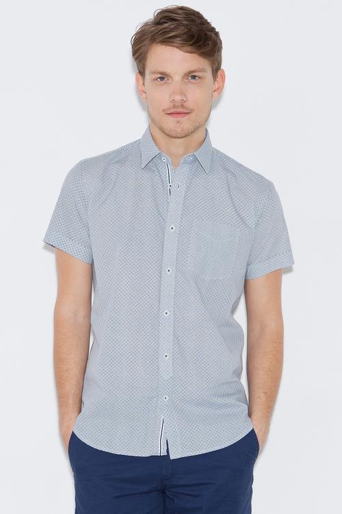 eb470b6c, camisa manda corta, azul, cuadros, Nick Jonas